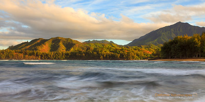 """Passing Storm"" Location: Hanalei, Kauai, Hawaii Map  Tech Info: Camera: Canon EOS 5D Mk II Lens: Canon EF 17-40mm f/4L at 40mm Exposure: 0.8sec at f/14 and ISO 50 Filters: 3-stop LEE ND Grad"