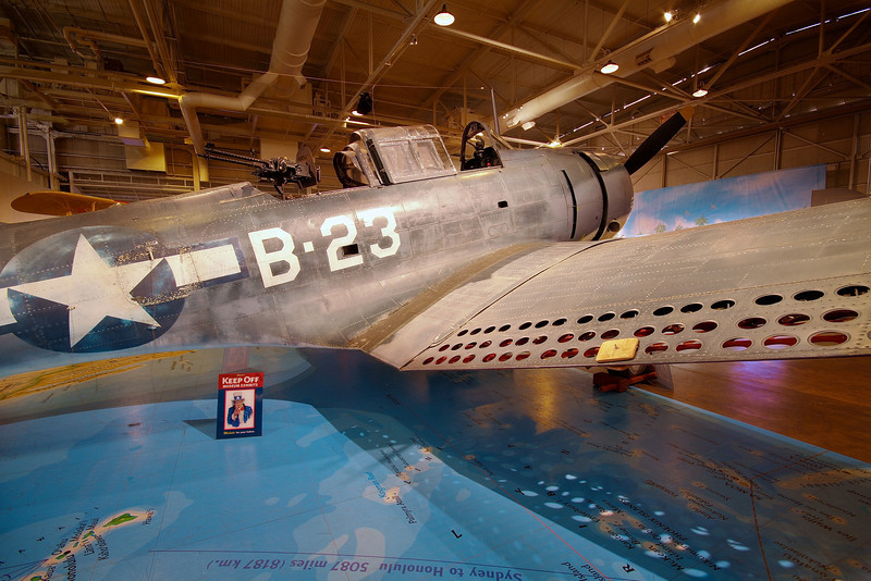 Douglas SBD-3 Dauntless at the Pacific Aviation Museum - Honolulu, Hawaii