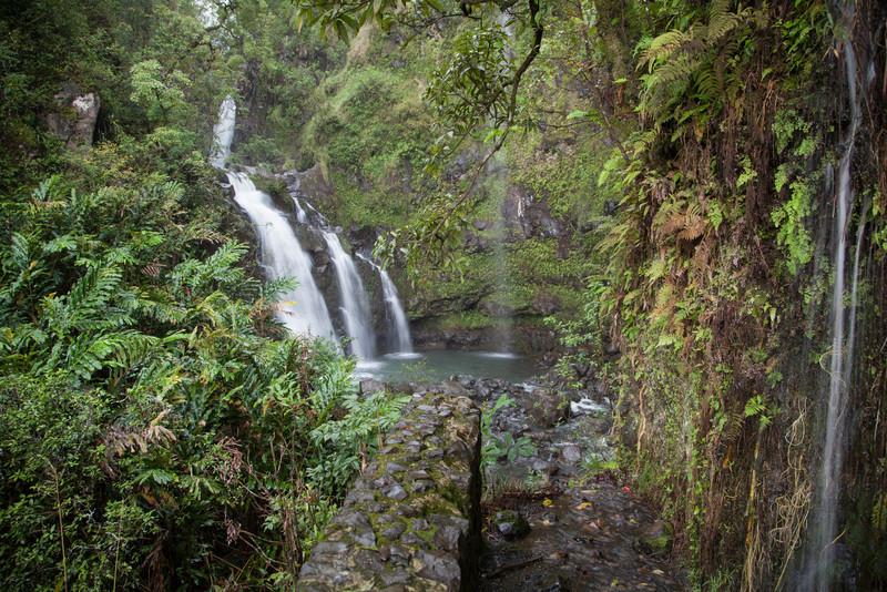 Three waterfalls along the road to Hana.