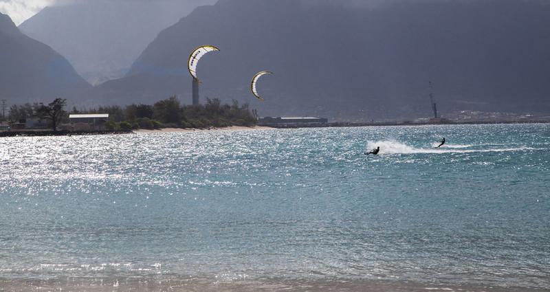 Kanaha Beach Park, Kahului, Maui.  One of the best kite board areas.