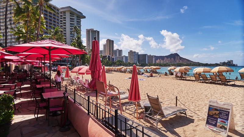 Waikiki Beach from the Royal Hawaiian - Honolulu, Hawaii