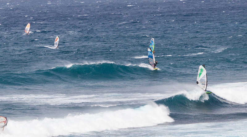 Ho'okipa Beach Park near Paia, Maui.  World-renowned windsurfing spot.