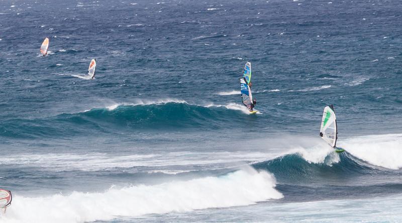 Ho'okipa Beach Park near Paia, Maui.  World-renowned windsurfing spot.