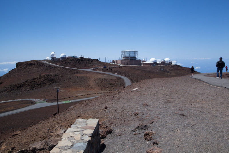Telescopes on top of Haleakala. 10,300 ft. elevation.