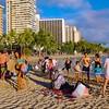 Beach Families, Waikiki Beach - Honolulu, Hawaii
