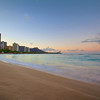 Morning on Waikiki Beach - Honolulu, Hawaii