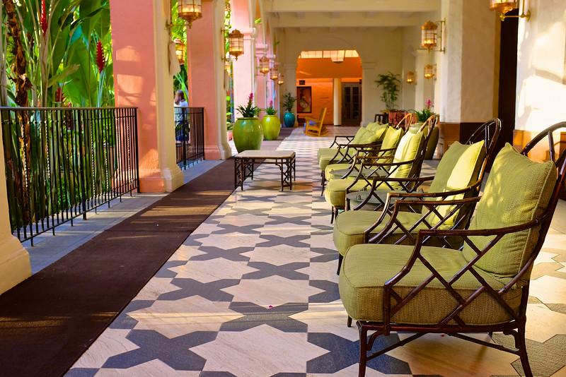 Comfortable Green Chairs, Royal Hawaiian - Honolulu, Hawaii