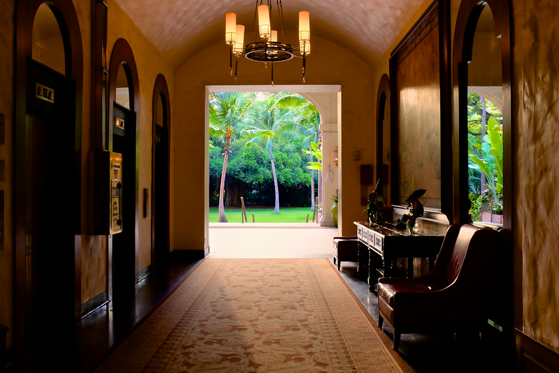 A Hallway to the Outside, Royal Hawaiian - Honolulu, Hawaii