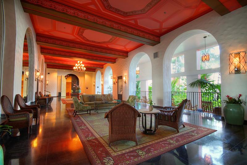 Royal Hawaiian Lower Lobby - Honolulu, Hawaii