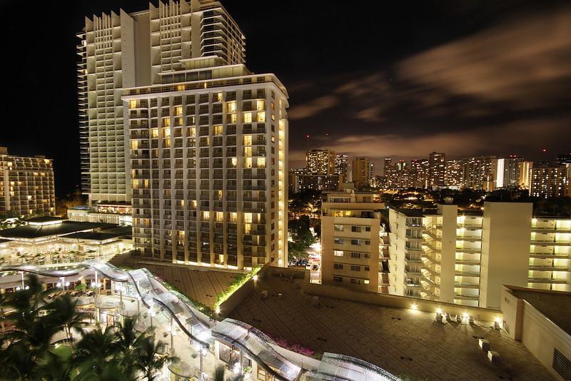 Waikiki Skyline at Night - Honolulu, Hawaii