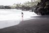 Black sand beach, Hana, Maui.