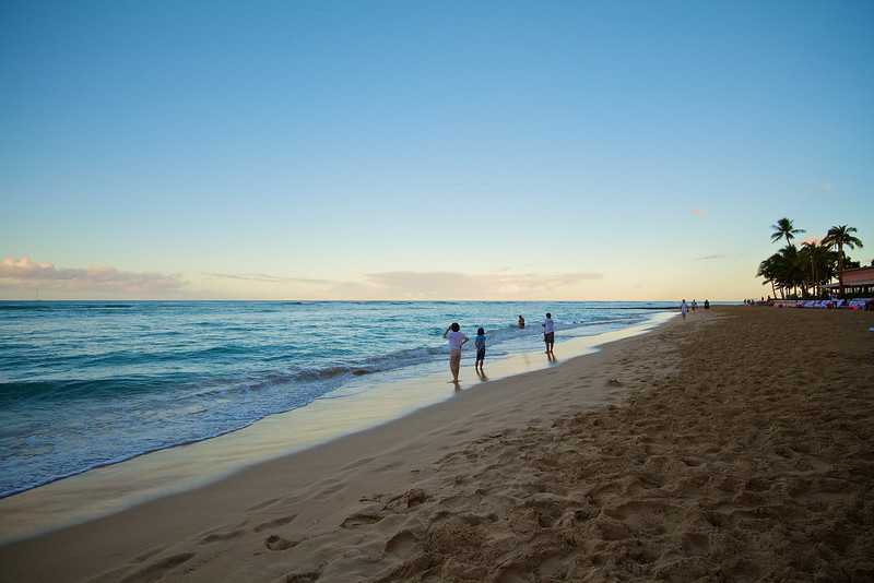 Morning at Waikiki Beach - Honolulu, Hawaii