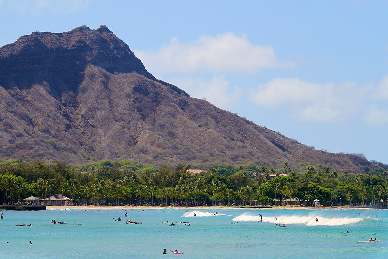 Diamond Head Closeup - Honolulu, Hawaii