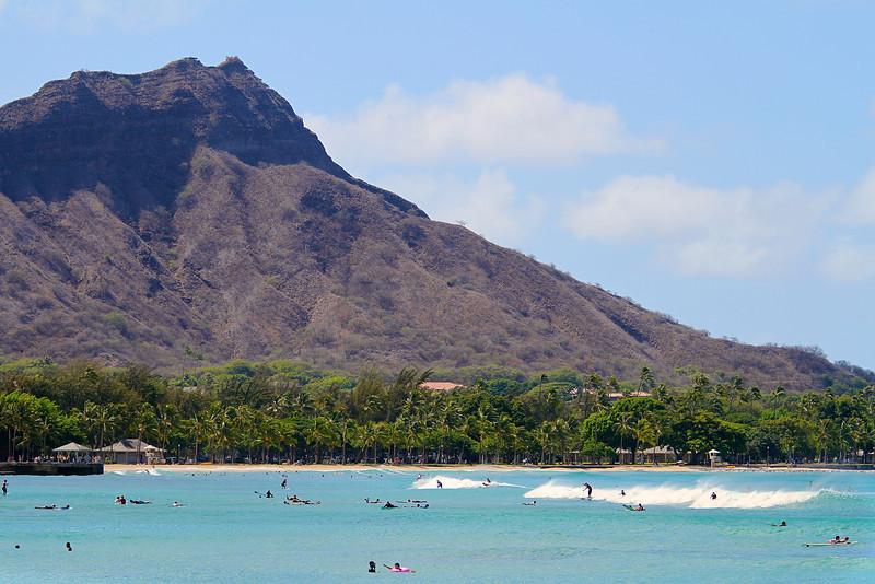 Diamond Head Closeup - Honolulu, Hawaii