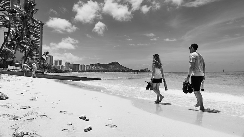 Strolling, Waikiki Beach - Honolulu, Hawaii