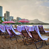 Royal Hawaiian Lounge Chairs at Waikiki Beach - Honolulu, Hawaii