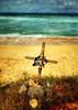 Memorial to a surfer, Molokai Hawaii