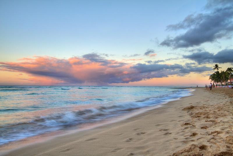 Morning on Waikiki Beach - Honolulu, Hawaii