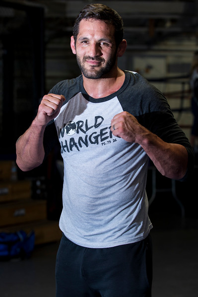 Lucus Montoya poses for a photo at Foley's Mixed Martial Arts Gym in Ogden on July 14, 2016. Montoya broke his arm during a fight and has been struggling to get consistently back in the ring after three surgeries to repair his ulna.