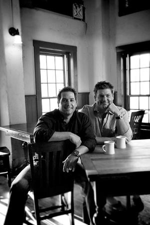 Portrait of Paula Deen's sons, Jamie and Bobby for Savannah Magazine