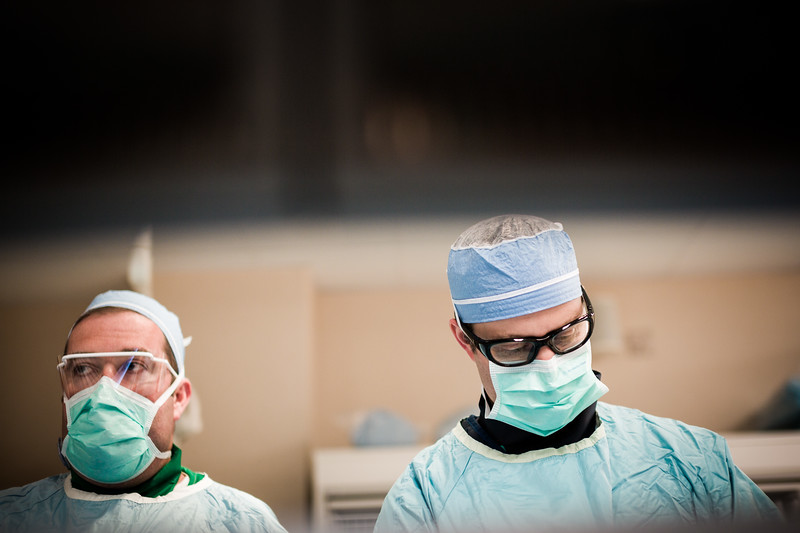 Doctors Focused During Surgery
