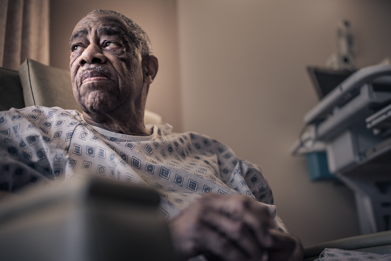 Healthcare Portrait of Lonely Elderly Patient