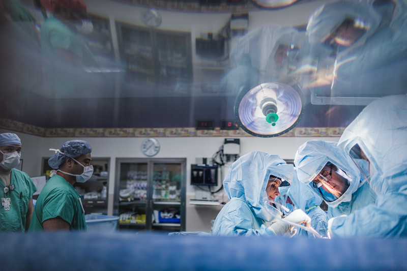 Reflection of Busy Orthopaedic Operating Room Staff