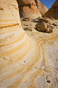 Sandstone sculptures in New Mexico's Ojito Wilderness, January 2010.