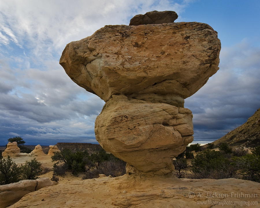 Stone mushroom in new Mexico's Ojito Wilderness, April 2011.