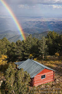 Autumn rainstorm over Hillsboro Peak in New Mexico's Black Range, October 2010.
