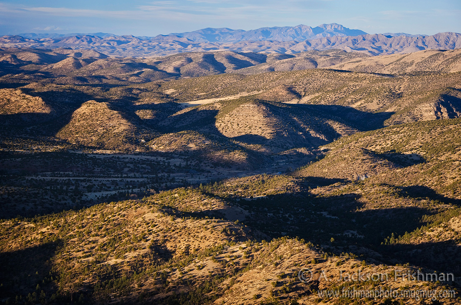 Looking over Hermosa Valley, from the Black Range over the Sierra Cuchillo to the San Mateos, New Mexico, March 2011.