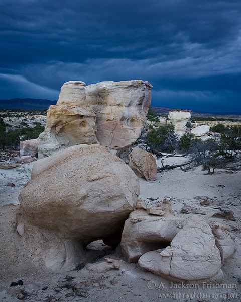 Nightime storm in New Mexico's Ojito Wilderness, April 2011.