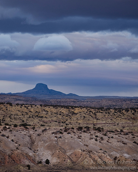 Winter storm over Cabezon Peak, Sandoval County, New Mexico, February 2011.