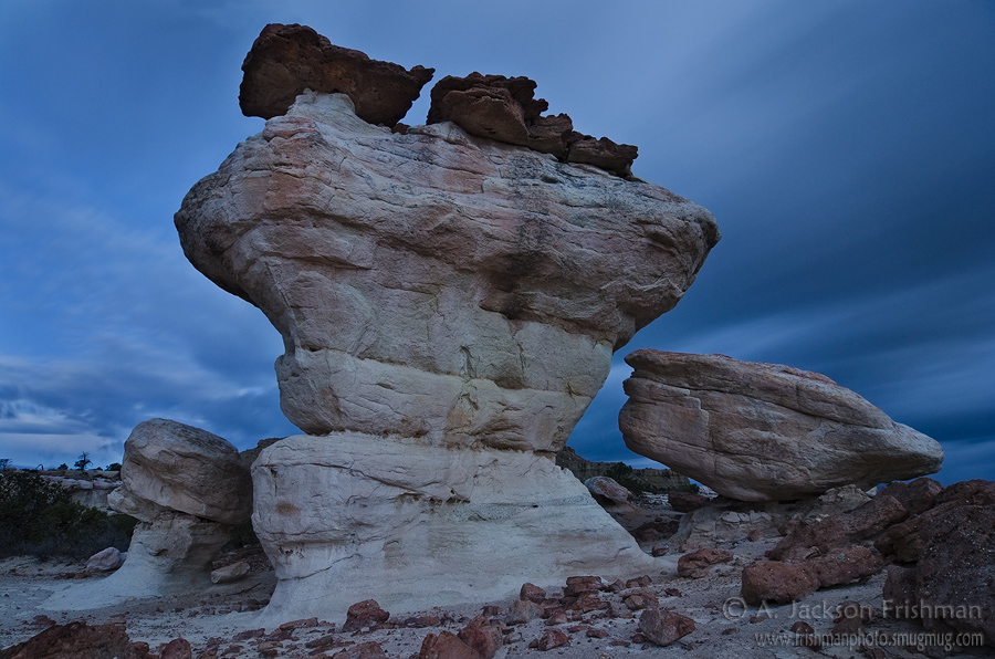 Hoodoos at night, Ojito Wilderness, New Mexico, April 2011.