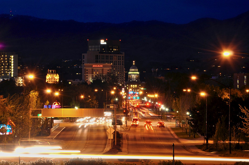 Downtown Boise Idaho - Night