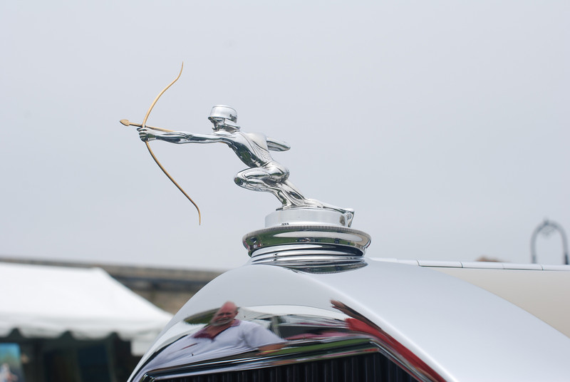 Hood ornament for a Pierce Arrow.