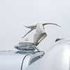 Another view of the Hispano Suiza hood ornament.