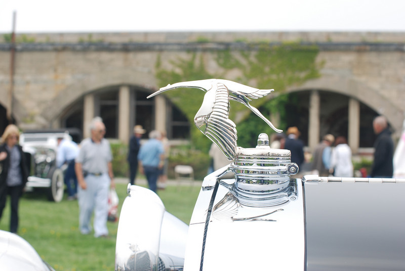 Hood ornament for a Hispano Suiza.