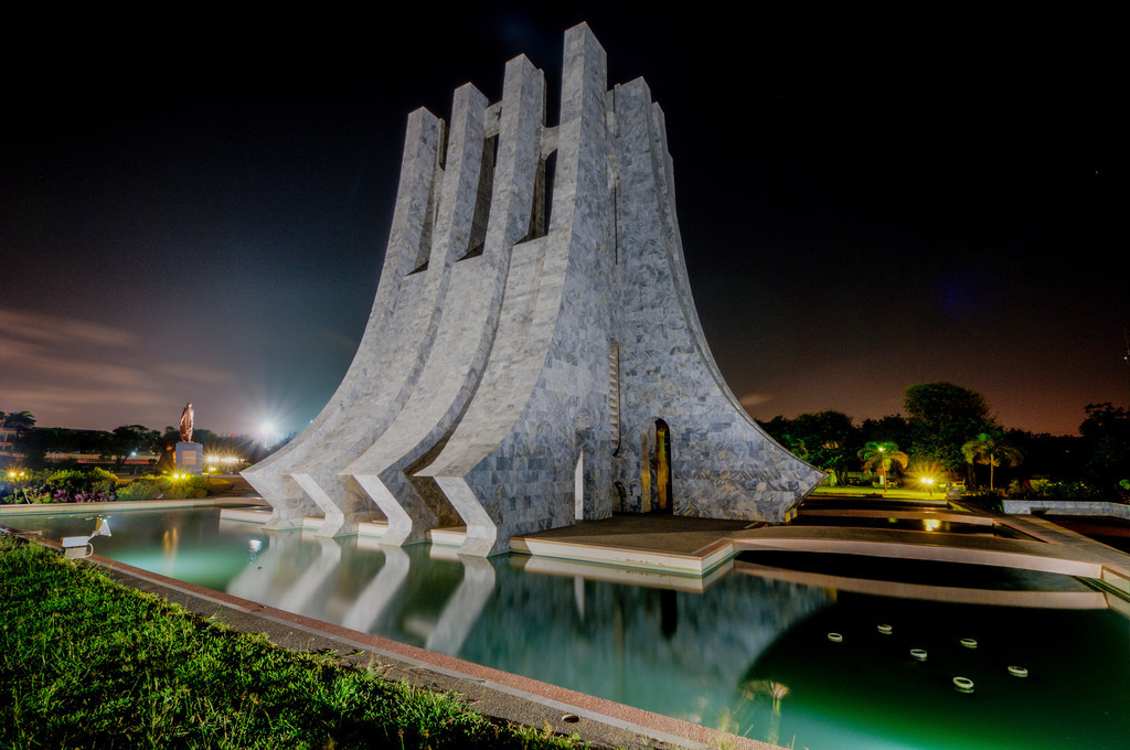 Kwame Nkrumah Memorial Park at Night