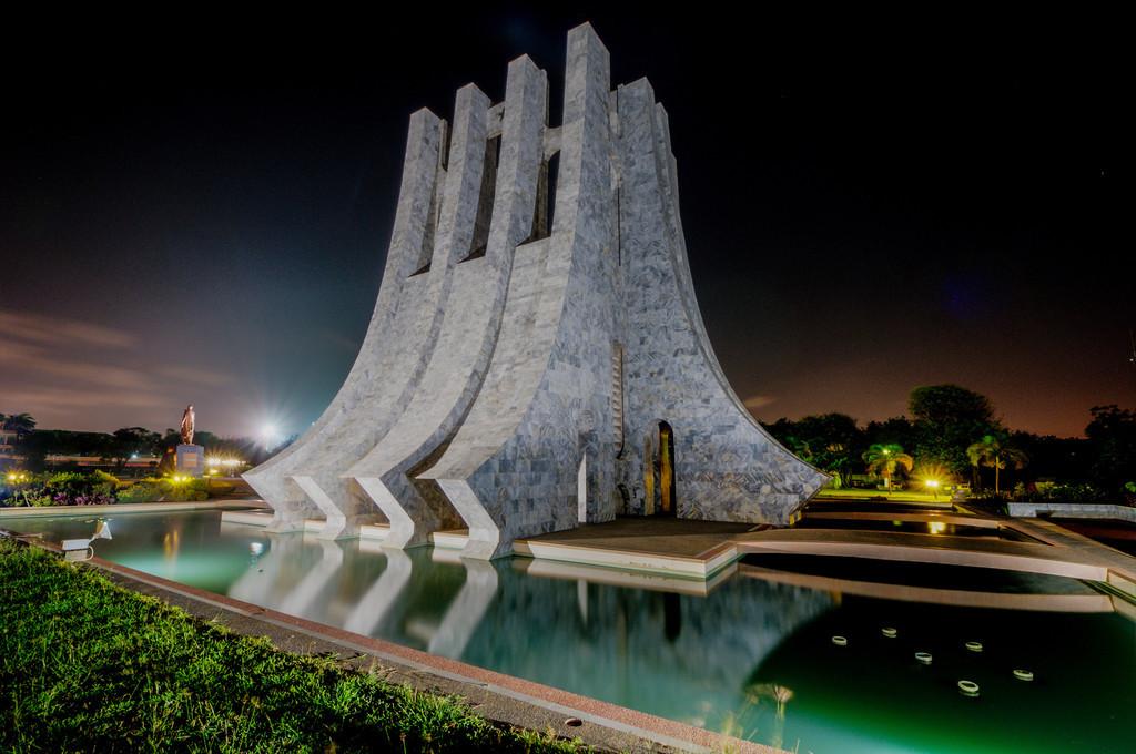 Kwame Nkrumah Memorial Park at Night