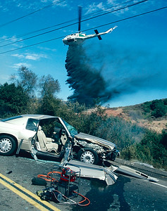 Laguna Canyon Traffic Accident & Fire