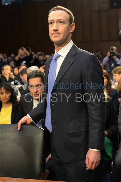 Facebook Chief Executive Mark Zuckerberg answers questions from  The Senate Judiciary Committee