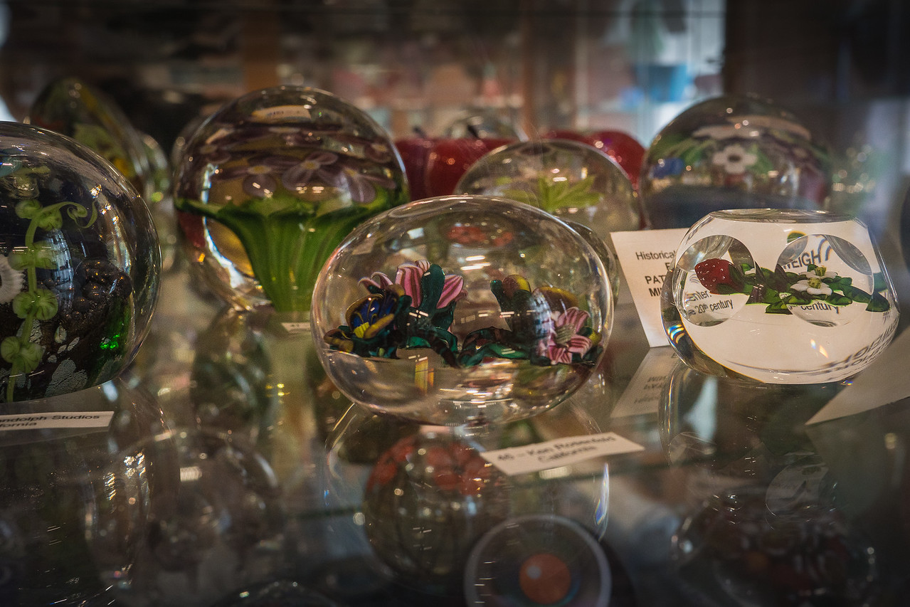 Paperweights at the Historical Glass Museum