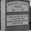 Grave of Marjorie Lansing Porter