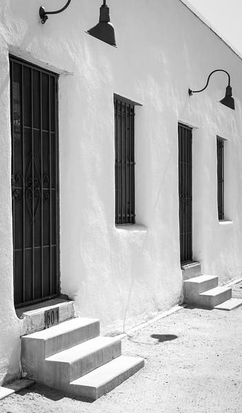 Adobe row house, Barrio Historico, Tucson, Arizona