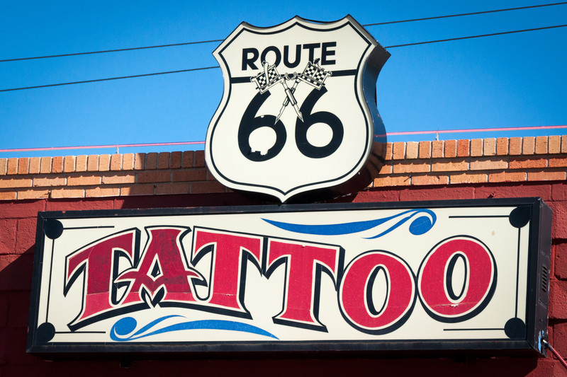 """Route 66, Albuquerque, NM -- <a href=""""http://rt66central.com/history.html"""" target=""""_blank"""" >Nob Hill History</a>"""