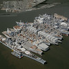 Suisun Bay Mothball Fleet - Aerial View