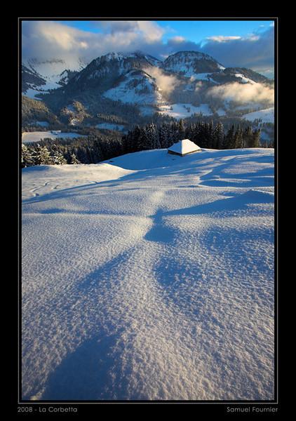 Vue depuis La Corbetta - Fribourg - Décembre 2008