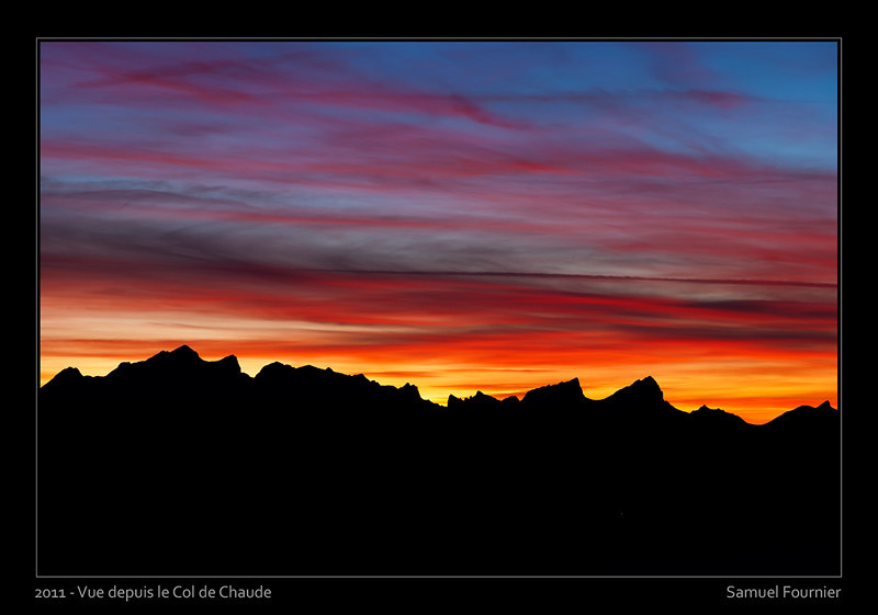 Vue depuis le Col de Chaude - Vaud - Novembre 2011