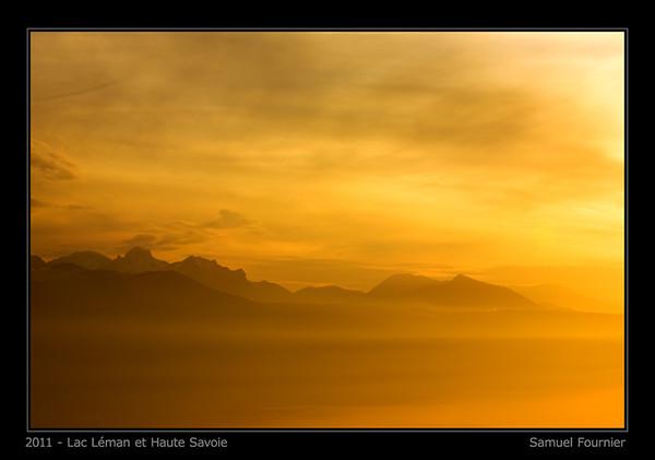 Vue depuis le Mont Pélerin - Vaud - Janvier 2011